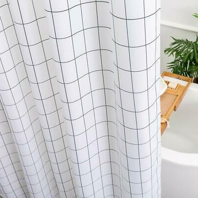 Aimjerry White Fabric Curtain for Bathroom,Washable STALL