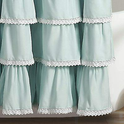 "Lush Decor, Blue Lace Curtain, 72"" x 72"""