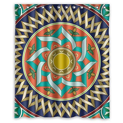 bohemian shower drape polyester