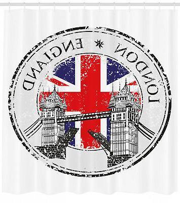 british shower curtain flag nostalgic national print