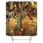 Burgundy Tree Shower Curtain Magical Butterfly Halloween Fal