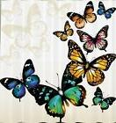 butterflies garden fabric shower curtain flying insect