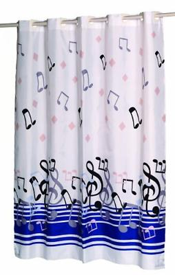 Carnation Fashions EZ on No Hooks Needed Fabric Shower Curta