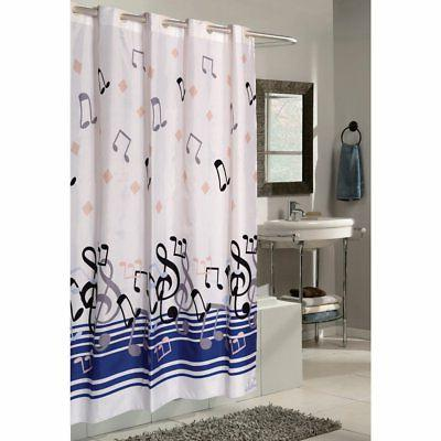 Carnation Home Fashions Ez On Grommet Blue Note Musical Fabr