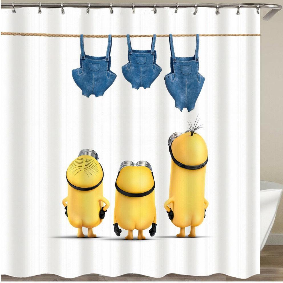 "Cartoon Minion Pattern Fabric Curtain Curtain 70""x70"