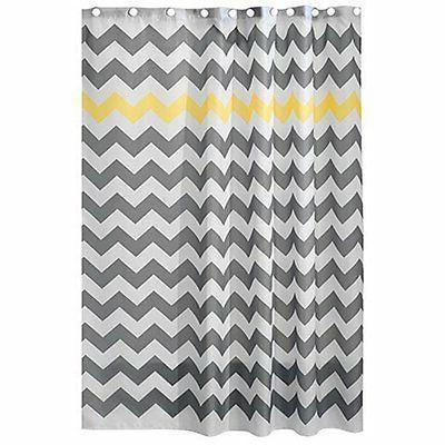 Chevron x 72-Inch Gray/Yellow Repellent Fabric