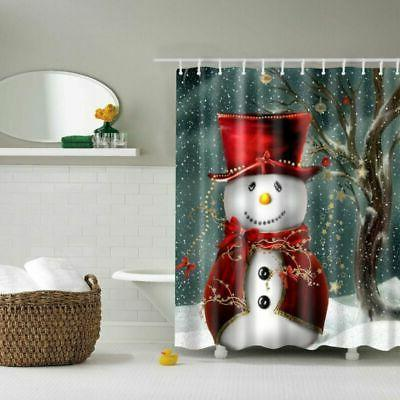 Christmas Fabric Shower Curtain