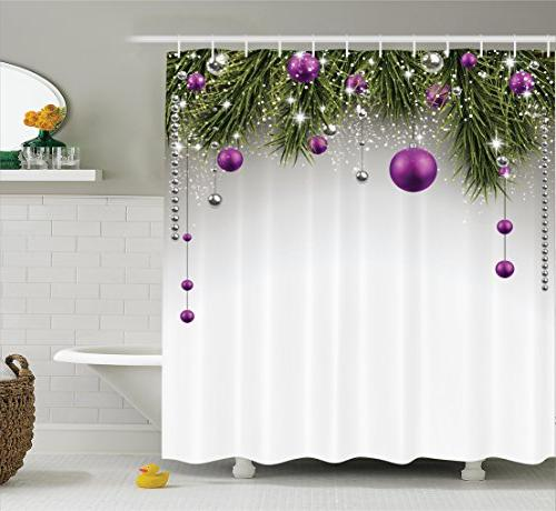 christmas shower curtain decorations