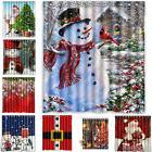 Christmas Snowman Fabric Waterproof Bathroom Shower Curtain