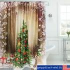 christmas tree snowflake waterproof shower curtain home