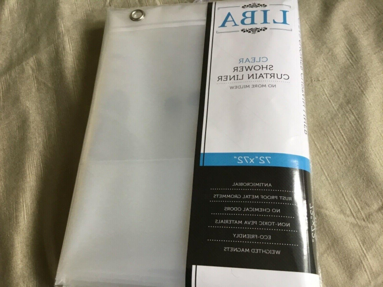 clear mildew free shower curtain 72 x