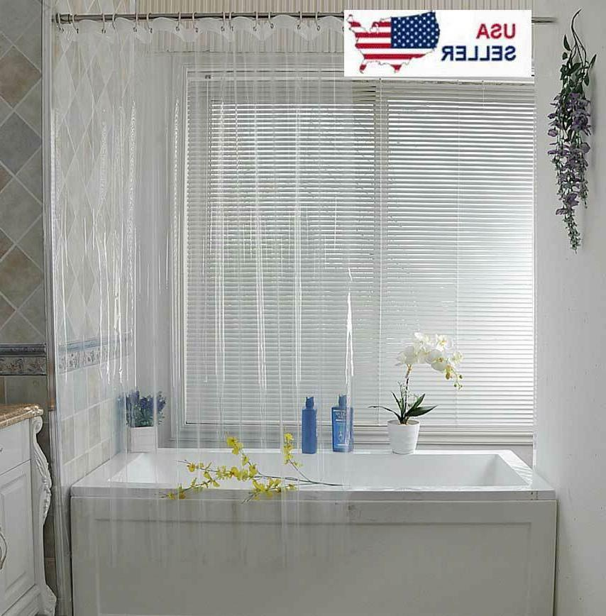 clear shower curtain liner anti bacterial peva