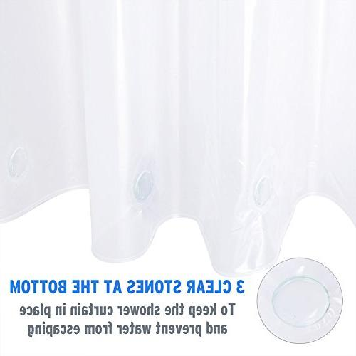 Amazer W x Clear 8G Mildew Resistant Thick Curtains No Smell Heavy Duty and Rust-Resistant Holes
