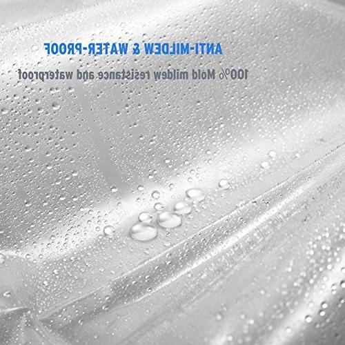 Amazer Curtain, Clear Resistant Bathroom Curtains No Heavy Clear and