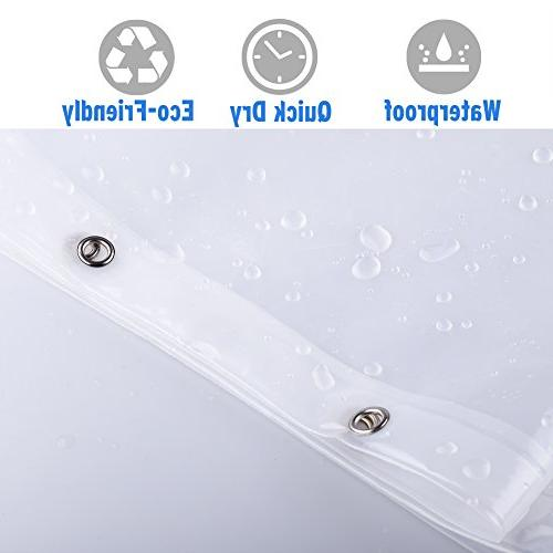 """Amazer Shower Curtain, 72"""" W x 72"""" H Clear EVA 8G Mildew Resistant Shower Curtains No Heavy Clear Stones and Grommet"""