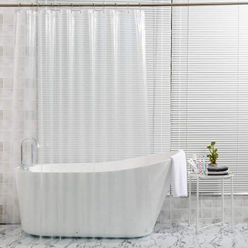 Amazer Shower Curtain, W Clear 8G Mildew Curtains No with Heavy Clear and Rust-Resistant