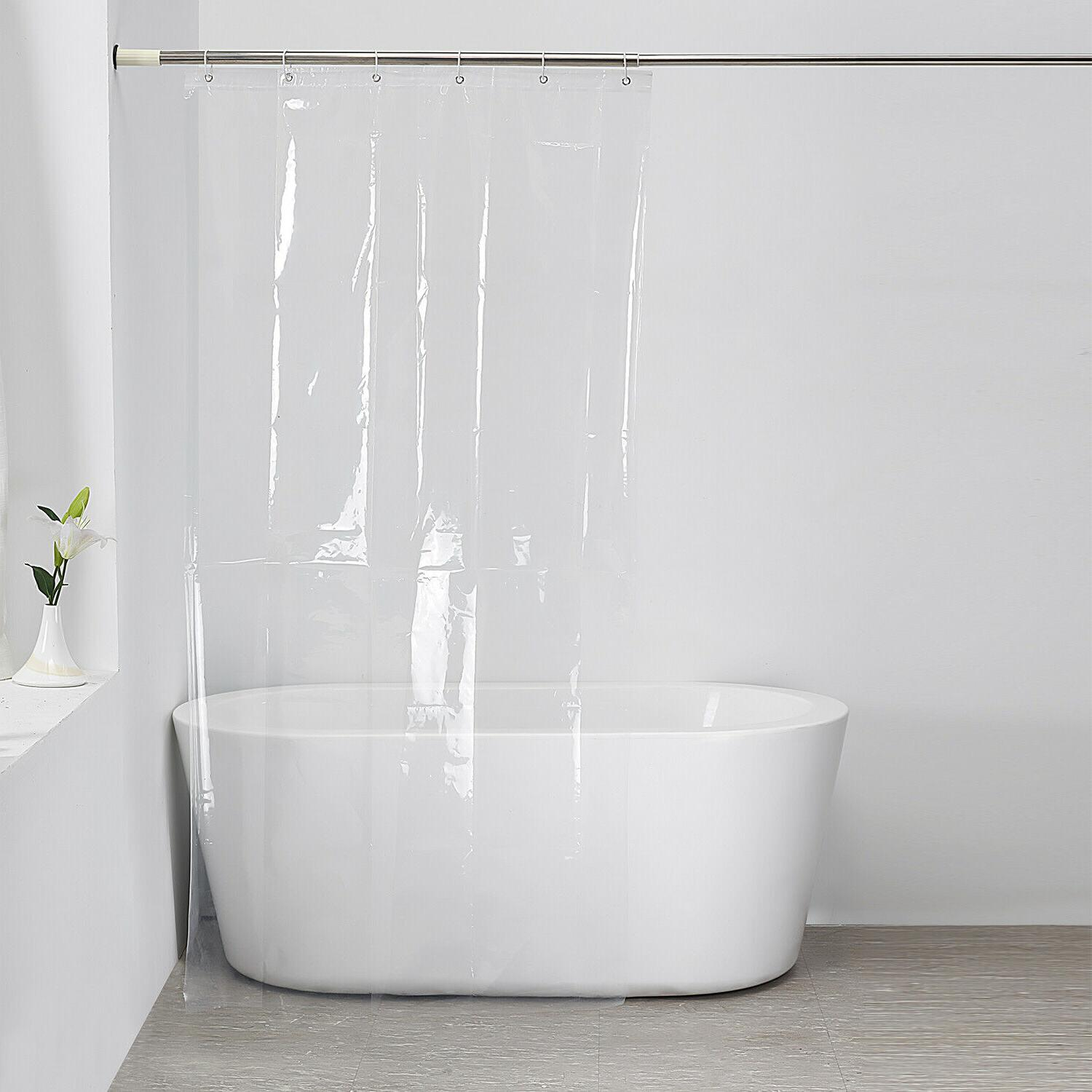 clear shower curtain solid water repellant vinyl