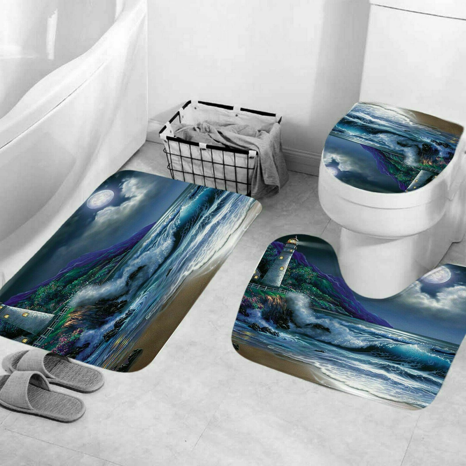 🔥Coast Shower Bathroom Rug Set Mat Cover