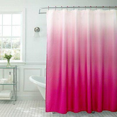 creative home ideas ombre textured shower curtain beaded rin