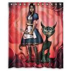 Custom Alice in Wonderland party Waterproof Bathroom Shower