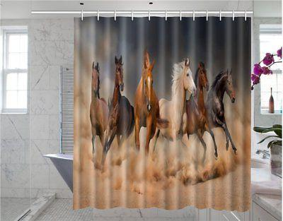 Somersetoo Customized Running Horse Art Print Pattern Shower