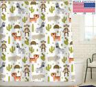 Cute Animal Shower Curtain/Liner Set For Kids Bathroom Curta