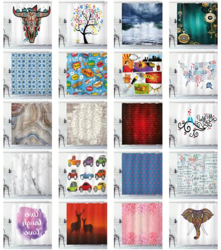 decorative bathroom cloth shower curtain set