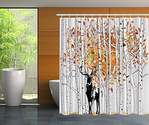deer decor shower curtain set