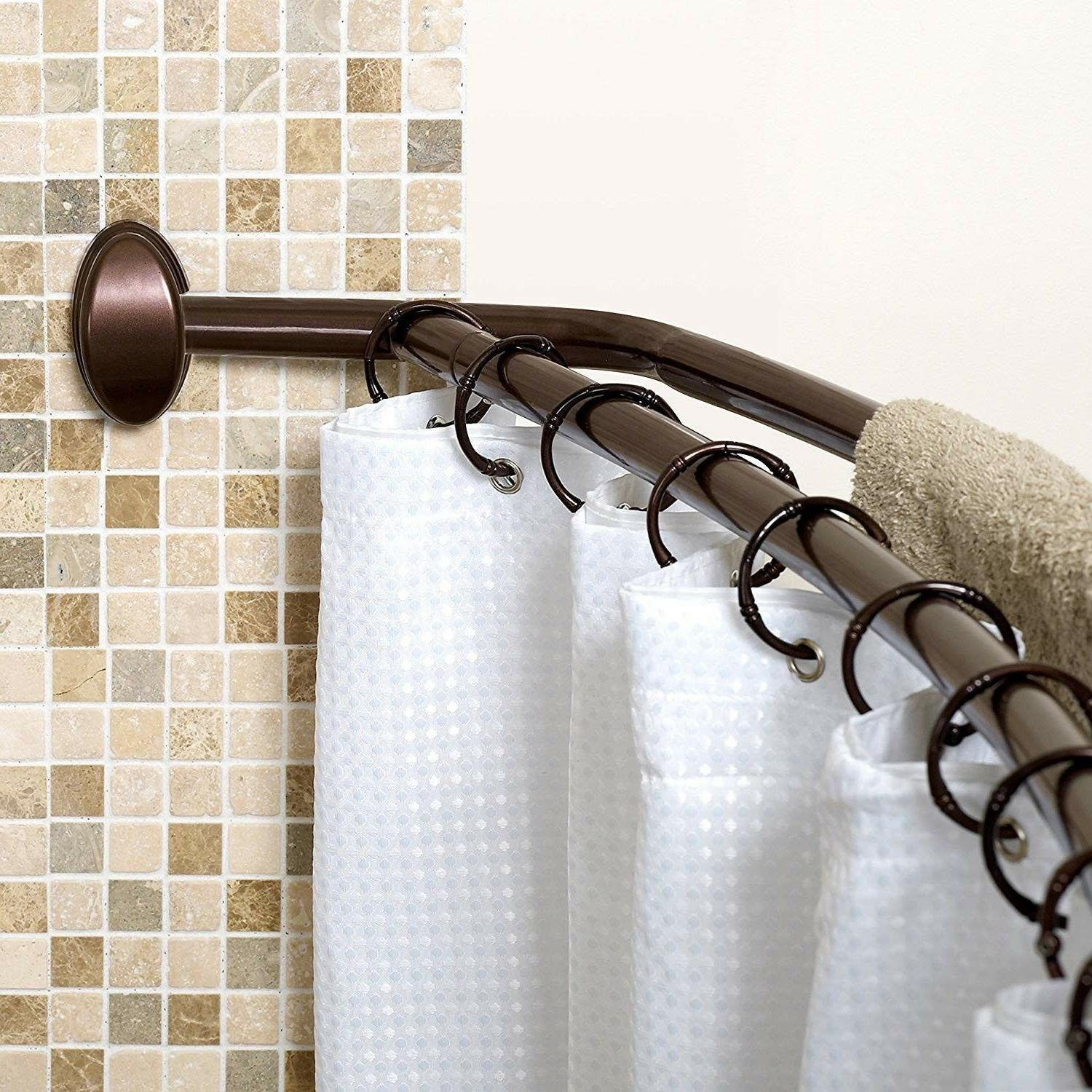 Double Curtain Rod Curved Shower Oil Rubbed Bronze