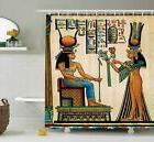 Ambesonne Egyptian Decor Shower Curtain Set Old Egyptian Pap