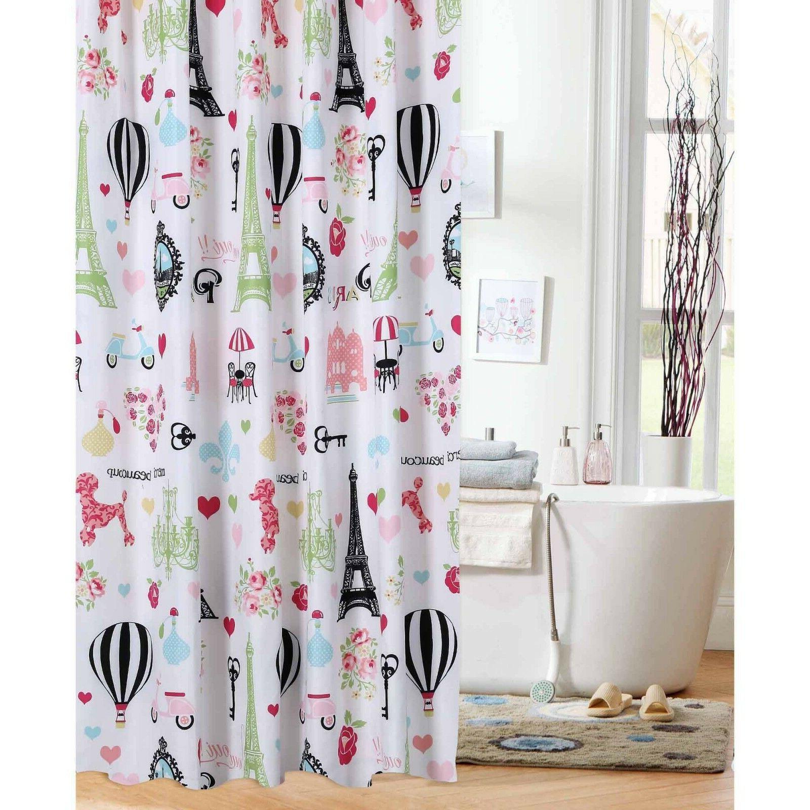 Eiffel Tower Paris Shower Curtain - Bathroom Decor