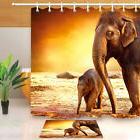 Elephant Mother with Baby Shower Curtain Set Bathroom Bathro