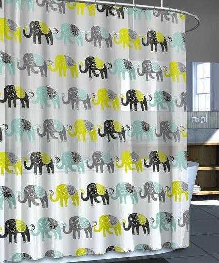 elephant shower curtain 72 x 70