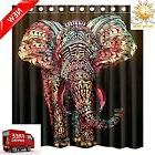 66X72 Elephant Waterproof Polyester Fabric Bathroom Shower C
