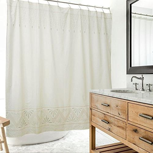 embroidered shower curtain approx
