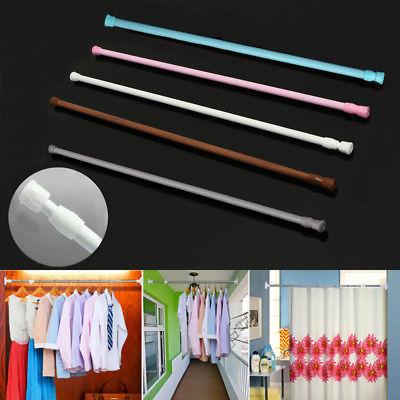 Extendable Telescopic Spring Loaded Tension Curtain Voile Ne