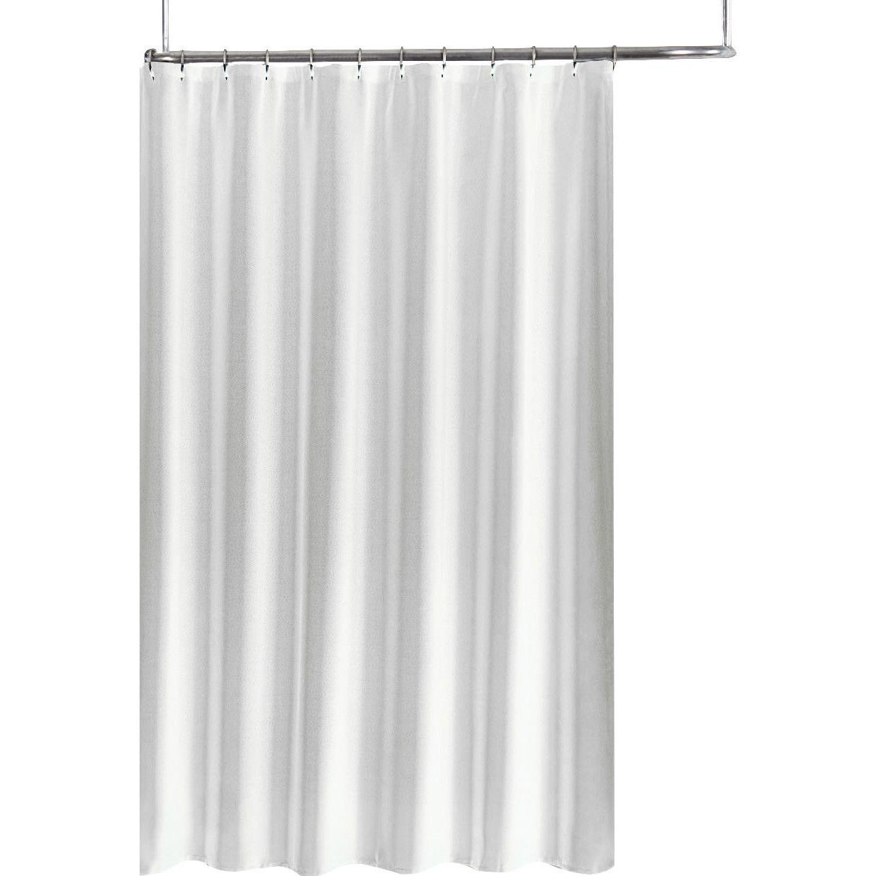 Extra Long Fabric Shower Curtain Liner 70 X