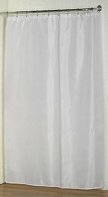 Extra Long Fabric Shower Curtain Liner/Water repellent/Weigh