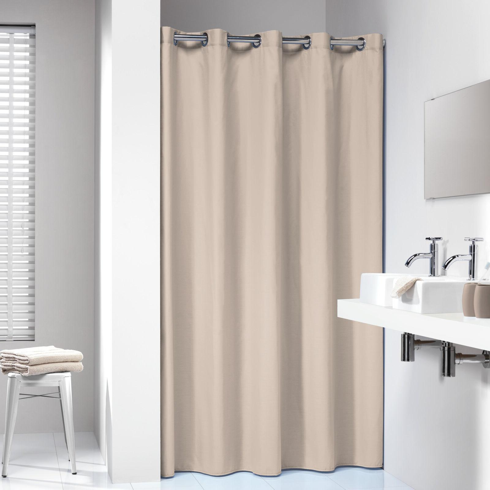 Extra Long Hookless Shower Curtain 72 x 78