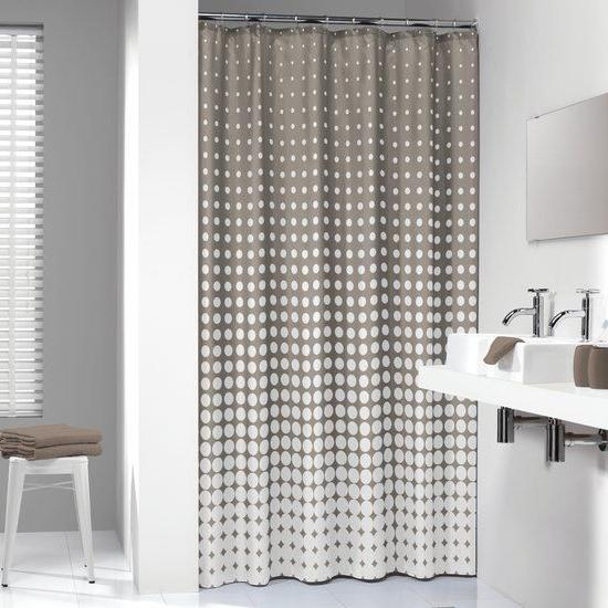 Extra Long Shower Curtain 72 x 78 Inch Sealskin Speckles Tau