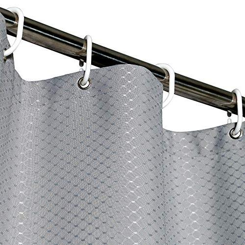 Aoohome Long Curtain Waffle Pattern with Weighted Hem, Heavy Duty, Mildew Inch, Grey