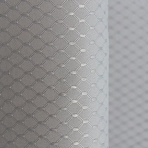 Aoohome Curtain Fabric Bathroom Waffle Weave Pattern Mildew Resistant, Grey