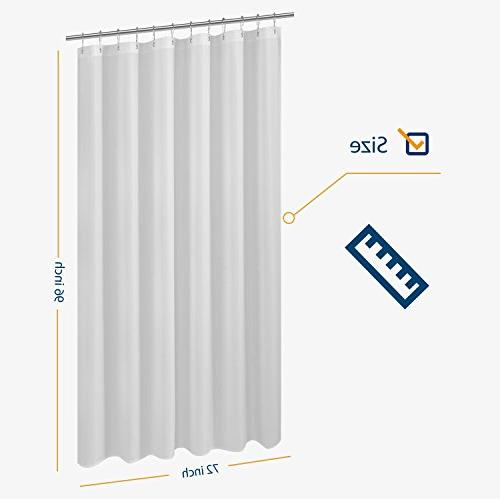 N&Y Shower Liner - x inch, Hotel Resistant, Repellent, White with Grommets