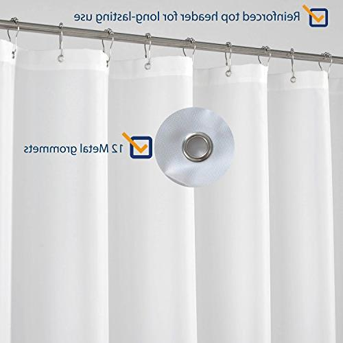N&Y Extra Long Shower Curtain - inch, Resistant, White Spa Bathroom with