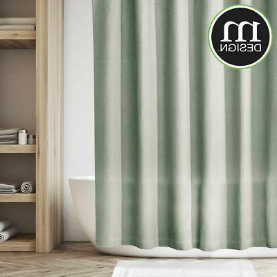 """mDesign LONG Weave Fabric Shower Curtain - 72"""" x"""