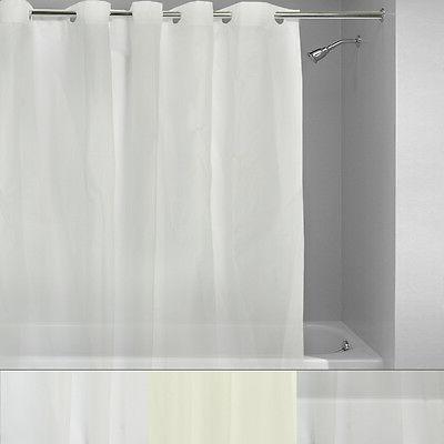 "EZ On 100% EVA Plastic 72"" x 72"" Hookless Shower Curtain/Lin"