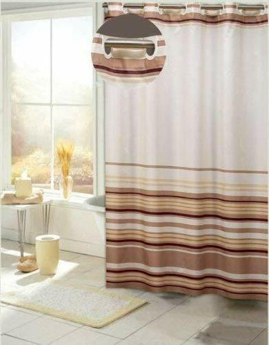 EZ On Stripes Polyester Curtain,
