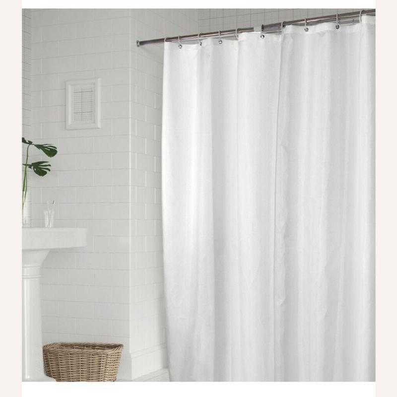 "Fabric Shower Curtain 54x 78"" Mildew Waterproof Polyester"