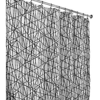 fabric shower curtain abstract white