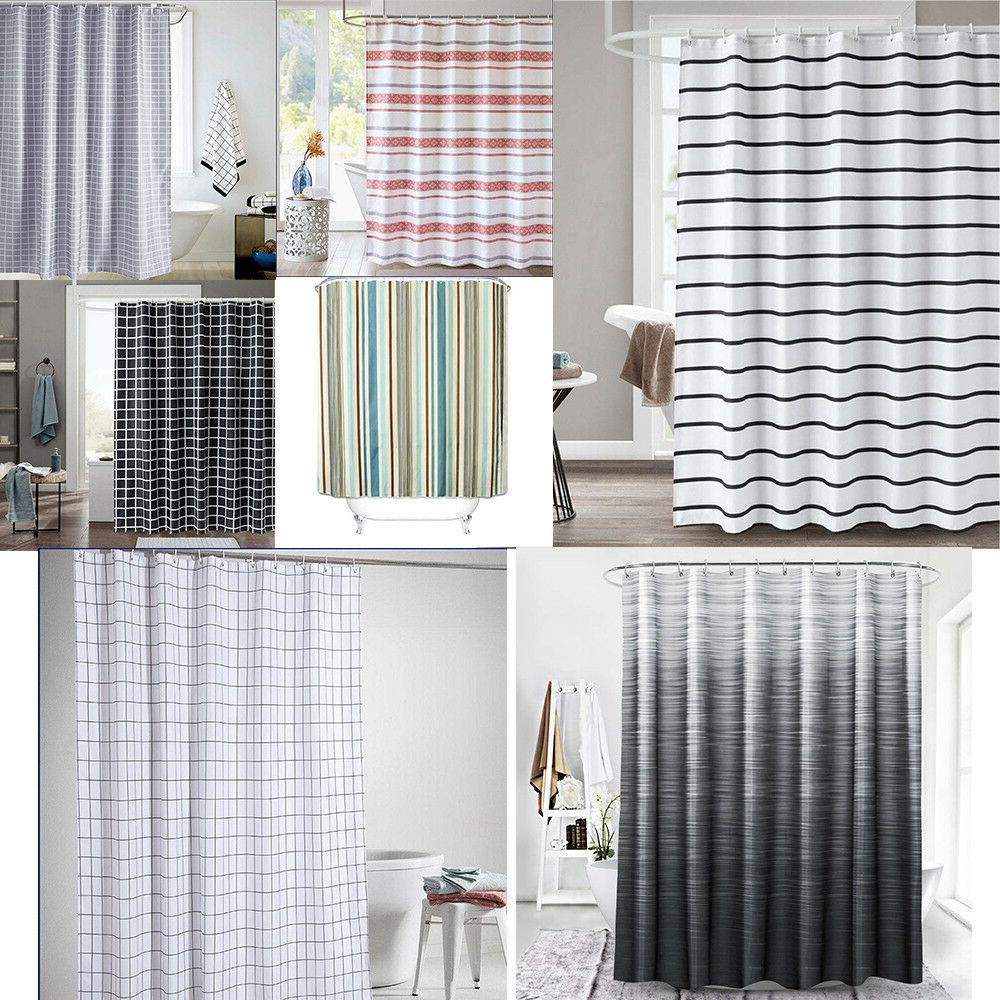 fabric shower curtain anti bacterial with reinforced